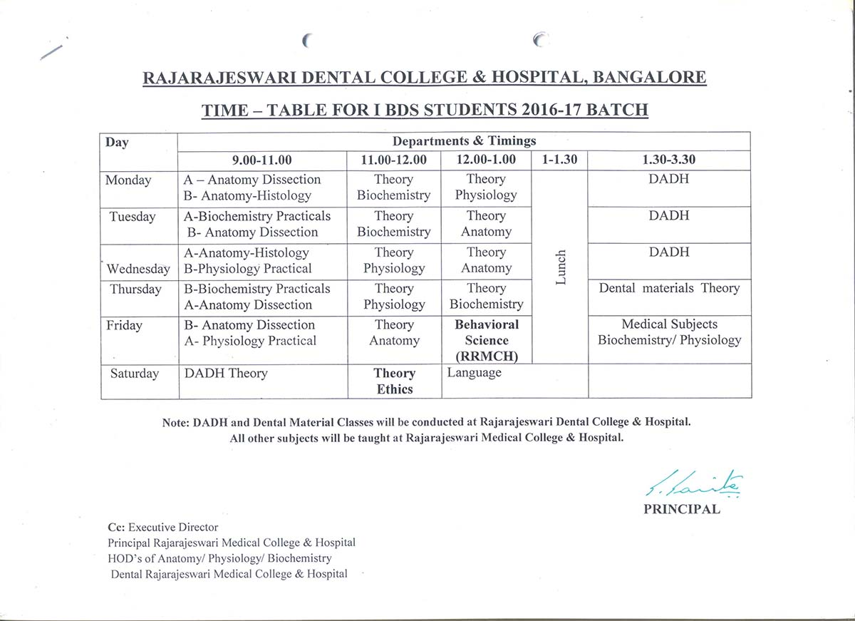 Time table rrdch for Gtu time table 4 th sem
