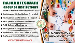21st april World creativity and Innovation Day RRGI