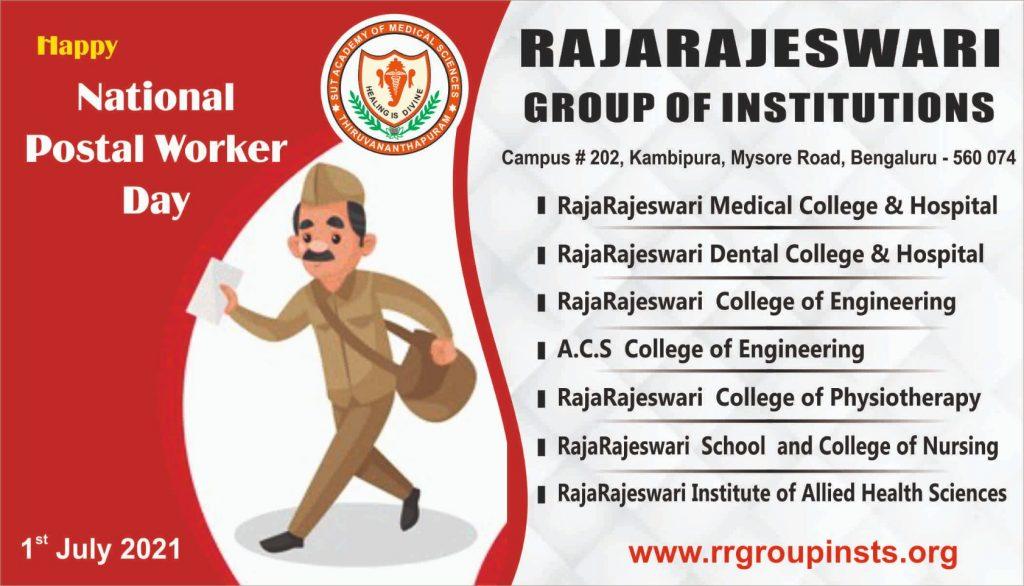 National Postal Worker Day 1st July RRGI
