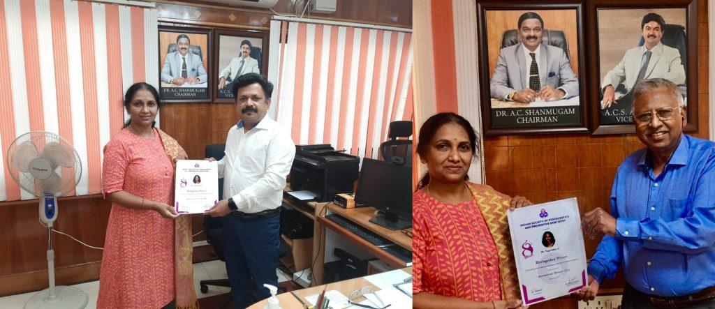 congratulate Dr. Nagarathna